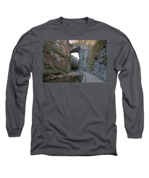 Long Sleeve T-Shirt featuring the photograph Natural Bridge Virginia by Suzanne Stout
