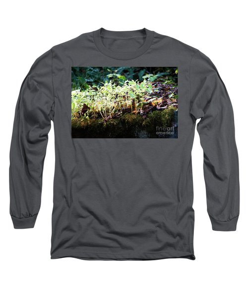 Nature Finds A Way Long Sleeve T-Shirt by Rebecca Davis
