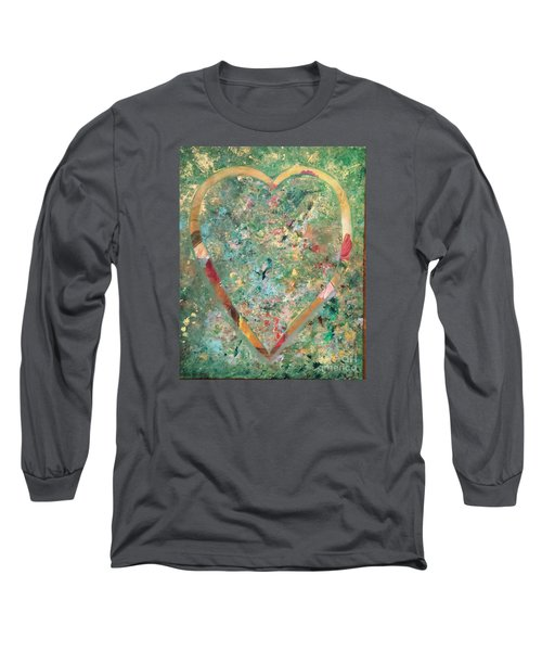 Long Sleeve T-Shirt featuring the painting Nature Lover by Diana Bursztein