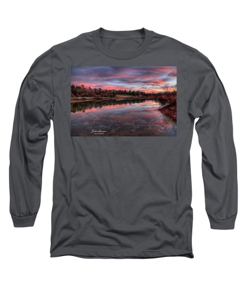Nature Reserve Reflections Long Sleeve T-Shirt by John Loreaux