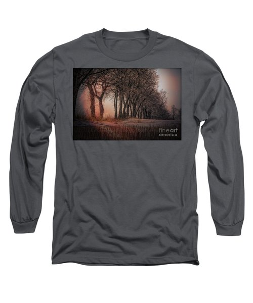 Nature Winter Bare Trees Color  Long Sleeve T-Shirt