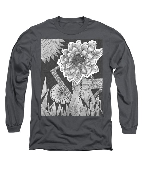 Naturemade And Manmade Shapes Long Sleeve T-Shirt by Quwatha Valentine