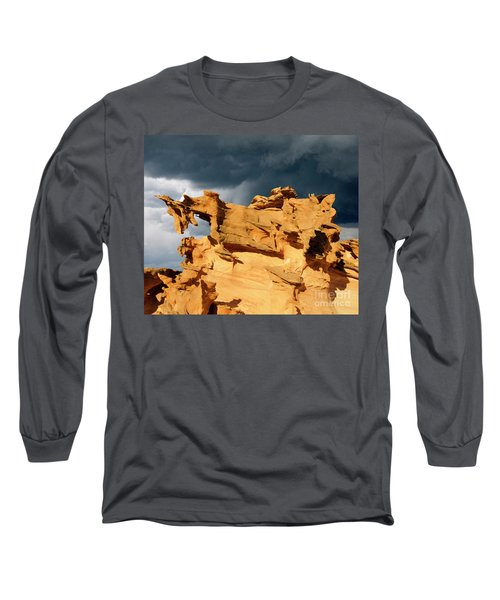 Long Sleeve T-Shirt featuring the photograph Nature's Artistry Nevada 3 by Bob Christopher