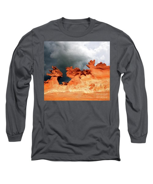 Long Sleeve T-Shirt featuring the photograph Nature's Artistry Nevada by Bob Christopher