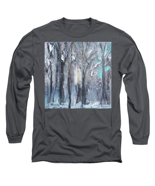 Long Sleeve T-Shirt featuring the painting Nature's Cathedral by Robin Maria Pedrero