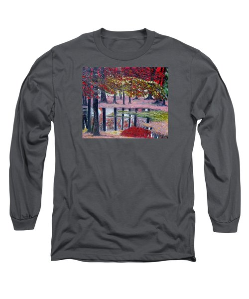 Long Sleeve T-Shirt featuring the painting Natures Painting by Marilyn  McNish