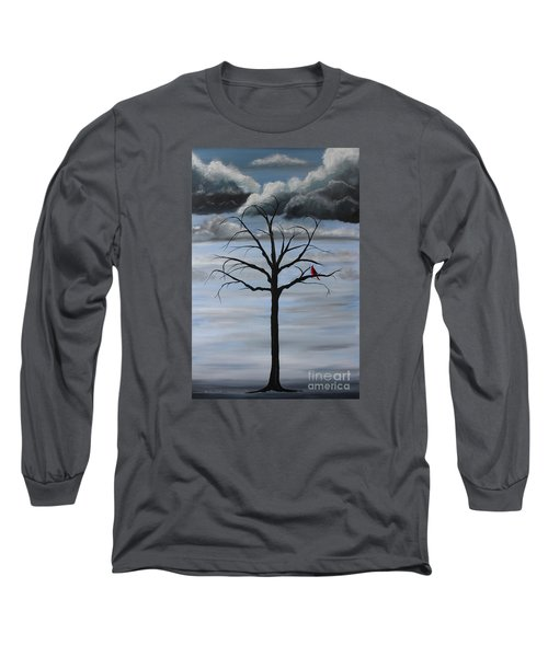 Long Sleeve T-Shirt featuring the painting Nature's Power by Stacey Zimmerman