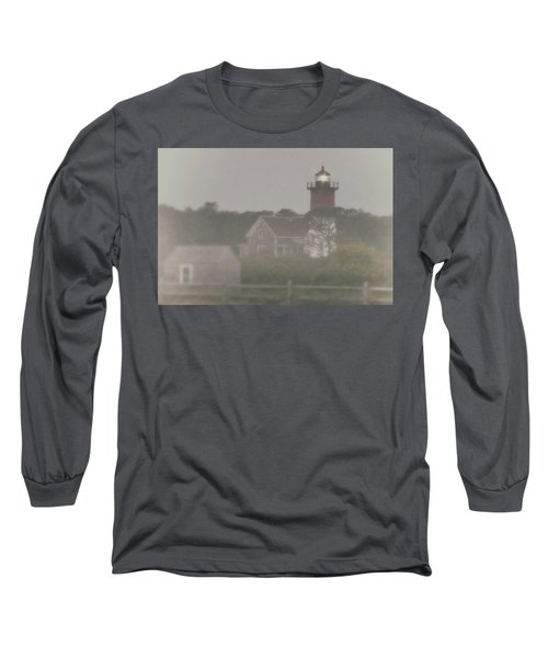 Nauset Lighthouse In Red And White From Early Morning To Late Long Sleeve T-Shirt