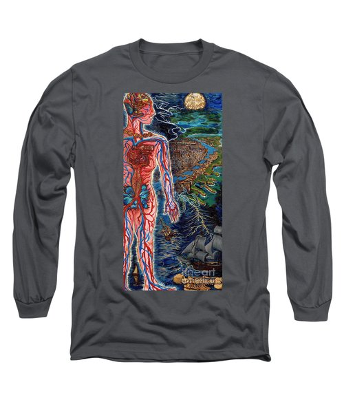 Navigation Long Sleeve T-Shirt by Emily McLaughlin