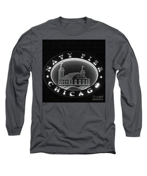 Navy Pier Chicago Sign Long Sleeve T-Shirt