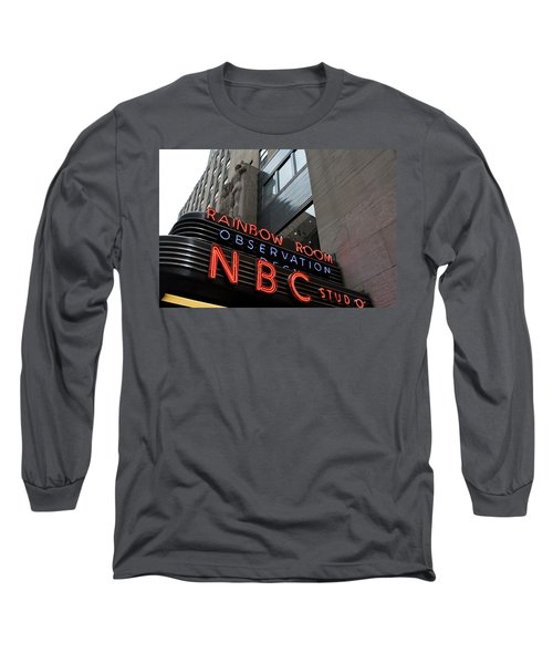 Nbc Studio Rainbow Room Sign Long Sleeve T-Shirt