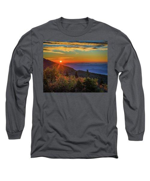 Nc Mountain Sunrise Blue Ridge Mountains Long Sleeve T-Shirt