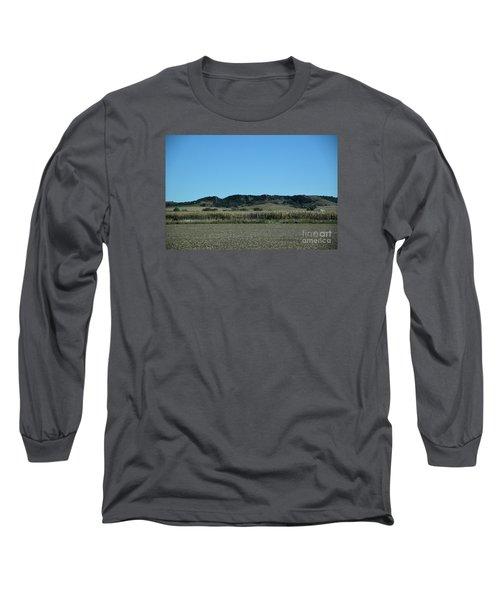 Long Sleeve T-Shirt featuring the photograph Nebraska Corn Field by Mark McReynolds