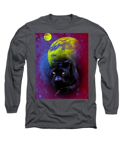 Nebula's Panther Long Sleeve T-Shirt by Swank Photography