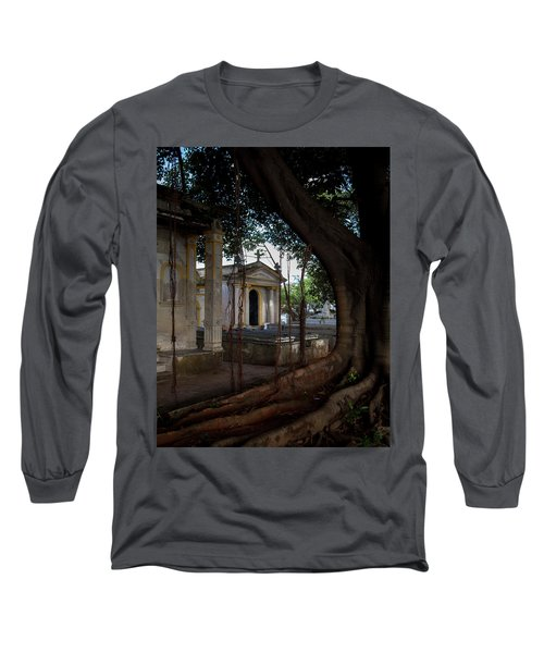 Necropolis Cristobal Colon Havana Cuba Cemetery Long Sleeve T-Shirt by Charles Harden
