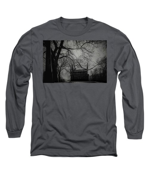 Long Sleeve T-Shirt featuring the digital art Necropolis Nine by Chris Lord