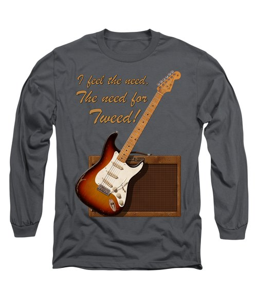 Need For Tweed T Shirt Long Sleeve T-Shirt by WB Johnston
