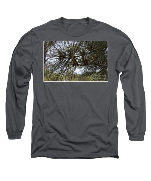 Needles Attached Long Sleeve T-Shirt by Roberta Byram