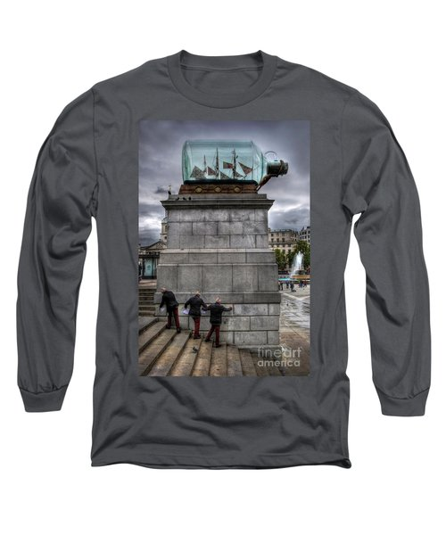 Nelson's Ship In A Bottle Long Sleeve T-Shirt