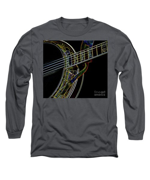 Long Sleeve T-Shirt featuring the photograph Neon Banjo  by Wilma Birdwell