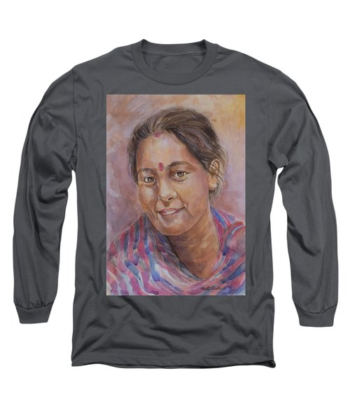 Nepal Girl 6 Long Sleeve T-Shirt