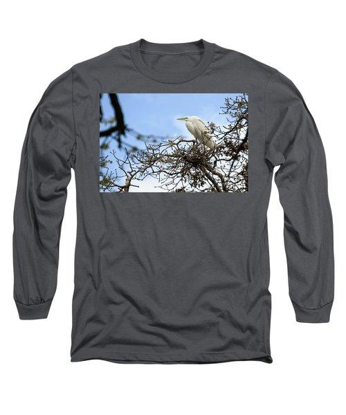 Nesting Egret Long Sleeve T-Shirt
