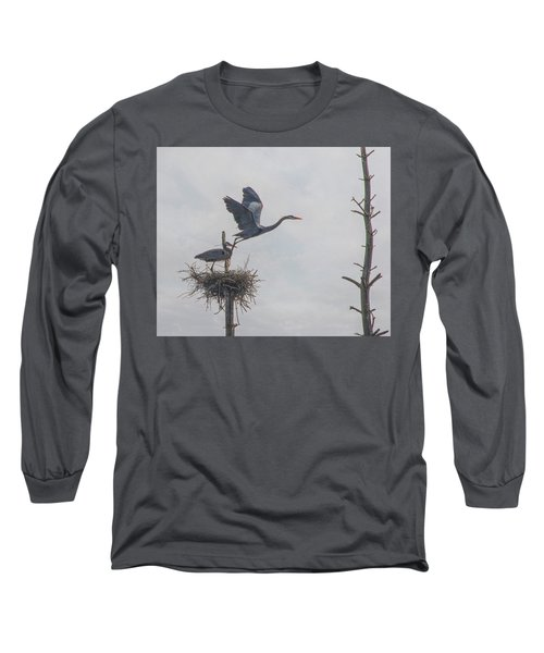 Nesting Great Blue Heron Long Sleeve T-Shirt