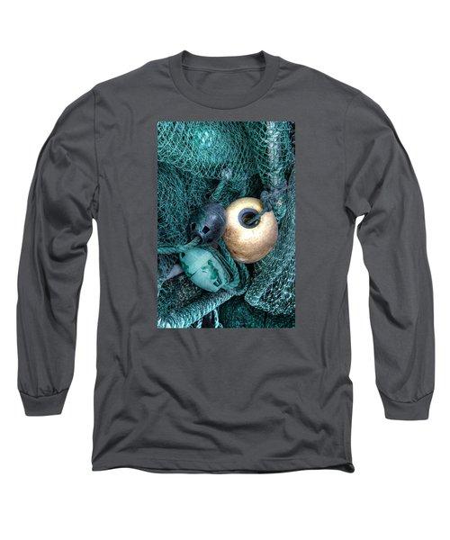 Nets And Buoys Long Sleeve T-Shirt by Lynn Jordan