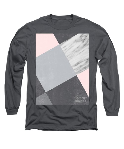 Neutral Collage With Marble Long Sleeve T-Shirt