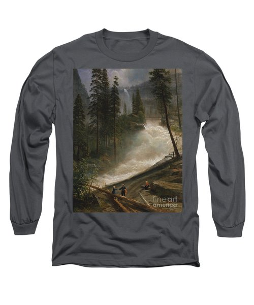 Long Sleeve T-Shirt featuring the photograph Nevada Falls Yosemite                                by John Stephens