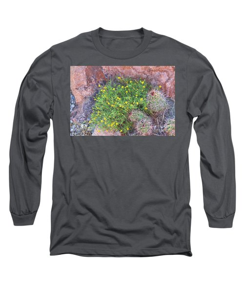 Long Sleeve T-Shirt featuring the photograph Nevada Yellow Wildflower by Linda Phelps