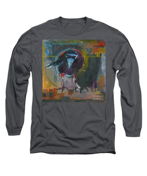 Long Sleeve T-Shirt featuring the painting Nevermore by Ron Stephens