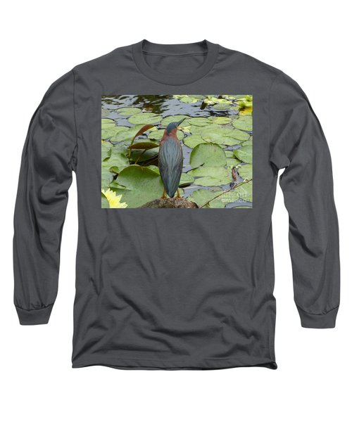 Nevis Bird Observes Long Sleeve T-Shirt