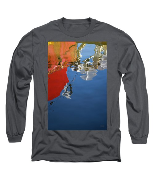 Long Sleeve T-Shirt featuring the photograph New Bedford Waterfront Xxviii Color by David Gordon