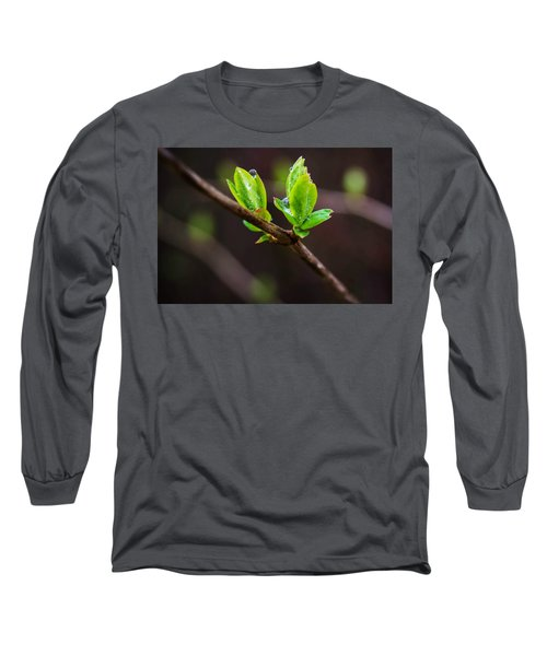 New Growth In The Rain Long Sleeve T-Shirt