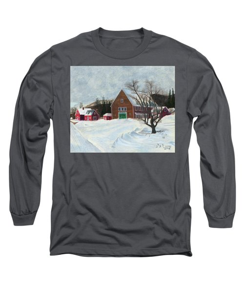 New Hampshire Farm In Winter Long Sleeve T-Shirt