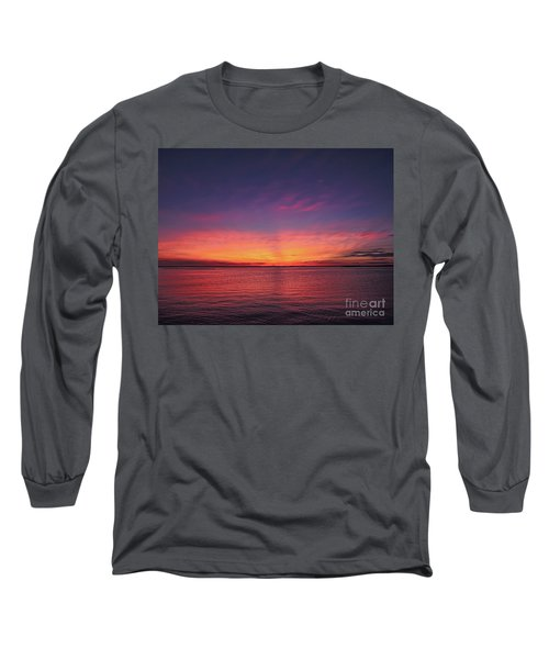 New Jersey Shore Sunset Long Sleeve T-Shirt