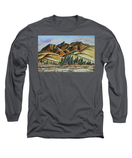 Long Sleeve T-Shirt featuring the painting New Mexico Back Country by Terry Banderas