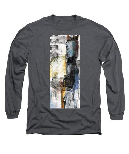 New Mexico Horse Art Long Sleeve T-Shirt by Frances Marino