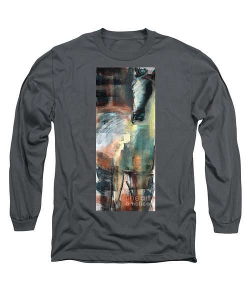 Long Sleeve T-Shirt featuring the pastel New Mexico Horse Three by Frances Marino