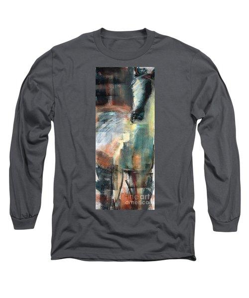New Mexico Horse Three Long Sleeve T-Shirt by Frances Marino