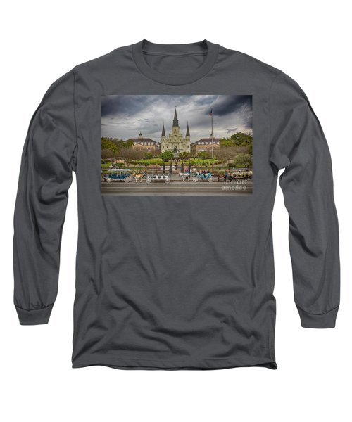 New Orleans Jackson Square Long Sleeve T-Shirt