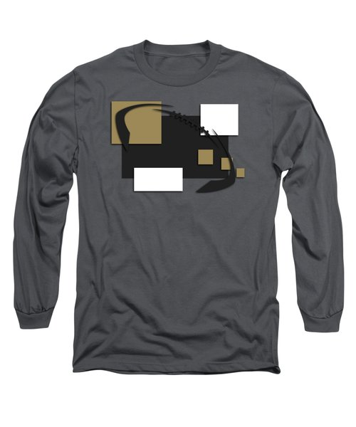 New Orleans Saints Abstract Shirt Long Sleeve T-Shirt by Joe Hamilton