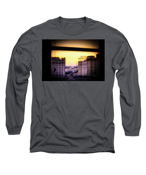 Long Sleeve T-Shirt featuring the photograph New Orleans Window Sunrise by Jim Albritton