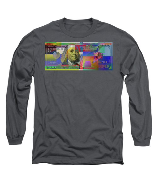 New Pop-colorized One Hundred Us Dollar Bill Long Sleeve T-Shirt