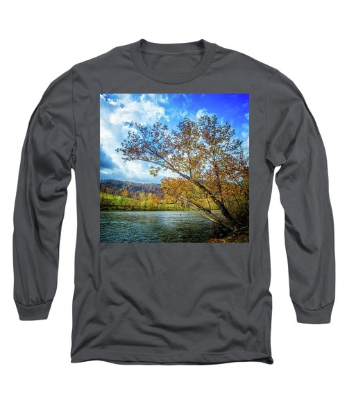 New River In Fall Long Sleeve T-Shirt
