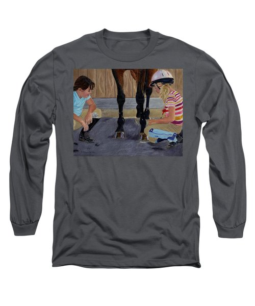 New Shoe Review Horse And Children Painting Long Sleeve T-Shirt