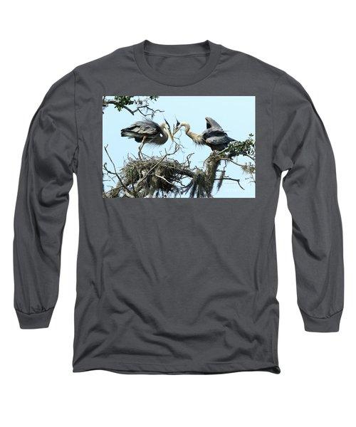 Long Sleeve T-Shirt featuring the photograph New Twig by Deborah Benoit
