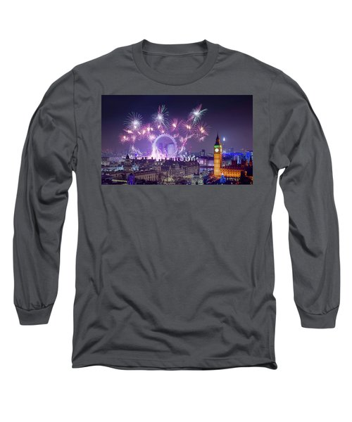 New Year Fireworks London Long Sleeve T-Shirt