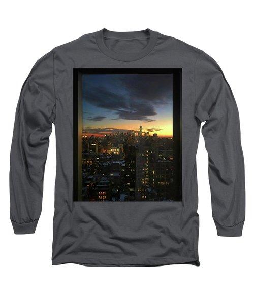 New York At Sunset Long Sleeve T-Shirt